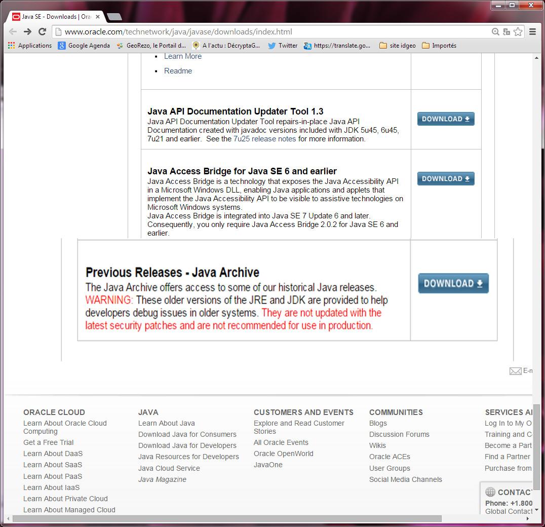 installer le serveur de Java pont de php