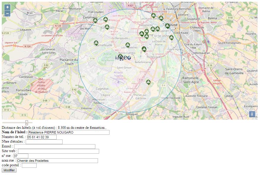 Des donn es osm la carte interactive sur internet idgeo for Hotel autour de moi